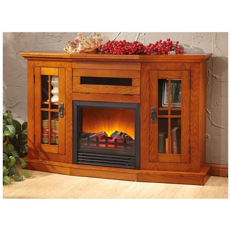 castlecreek windowed fireplace media center 613114