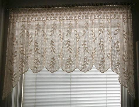 crochet curtains patterns blowing wheat valance t10 013 filet crochet