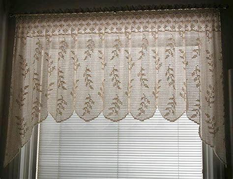 crochet curtain patterns valances blowing wheat valance t10 013 filet crochet
