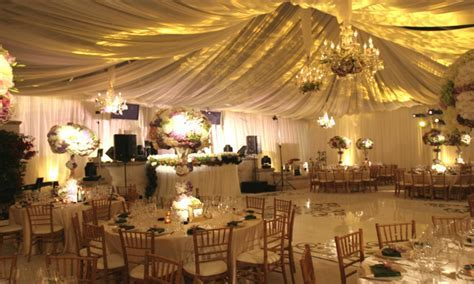 Tables for outdoors, elegant wedding reception decoration
