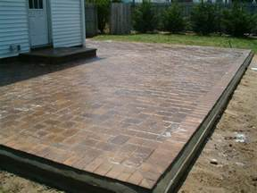 Concrete Patio With Pavers Triyae Large Tiles For Backyard Various Design Inspiration For Backyard