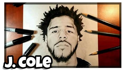 Drawing J Cole by How To Draw J Cole Time Lapse Drawing