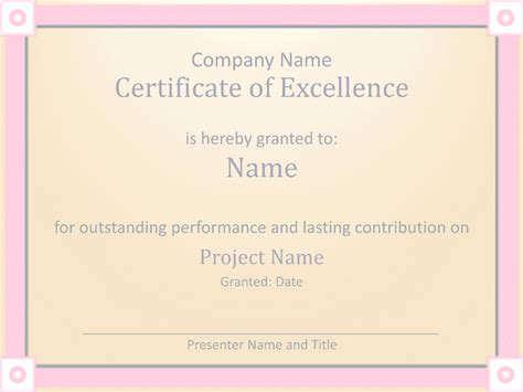 award of excellence certificate template employee award certificate of excellence template employee