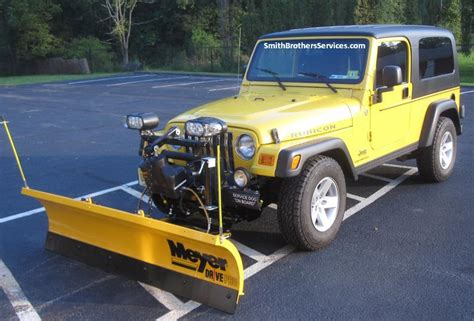 Snow Plow For A Jeep Wrangler Smith Brothers Services Jeep Wrangler Meyer Drive Pro