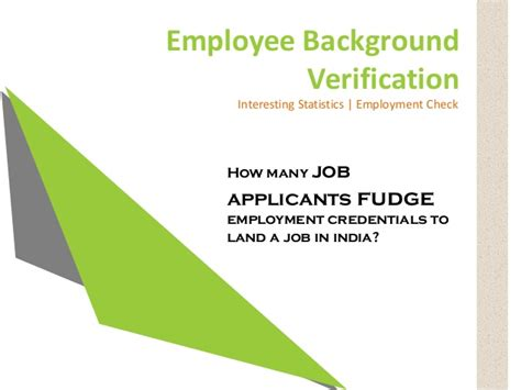 Self Background Check For Employment Background Check Employment Check Statistics In India