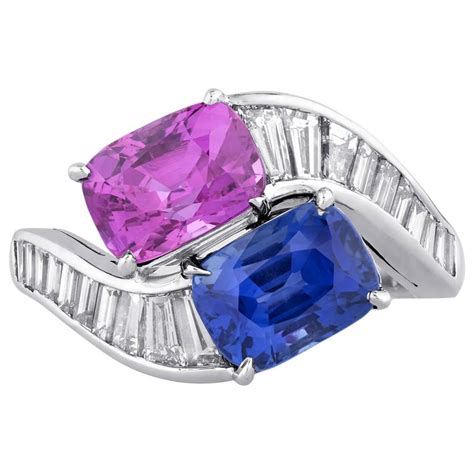 Bvlgari Blue 1 bulgari blue and pink sapphire crossover ring at