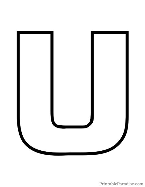 large printable letter u free coloring pages of bubble letter u