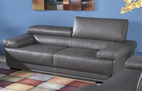 charcoal grey sofas charcoal grey leatherette modern sofa w optional items