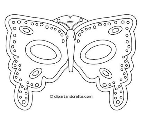 butterfly mask template butterfly mask template or coloring craft sheet