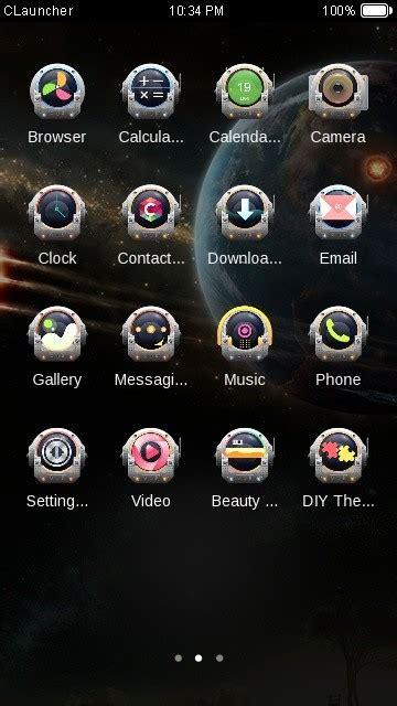 c launcher themes mobile9 space capsule c launcher theme free android theme download