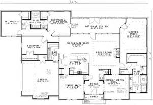 house plans with 2 master suites on main floor gurus floor