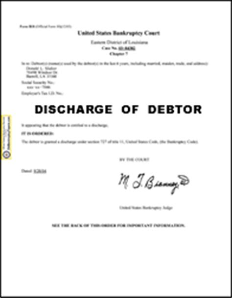 find official us bankruptcy discharge papers 800