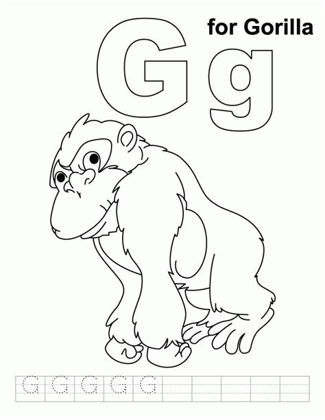 goodnight gorilla coloring page gorilla coloring pages coloring home