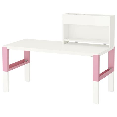 p 197 hl desk with add on unit white pink 128x58 cm ikea