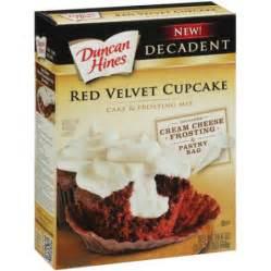duncan hines decadent red velvet cupcake cake amp frosting mix 19 4 oz walmart com
