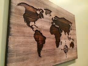 Wooden World Map by Carved Wooden World Map Wood Wall Art World Map Home Decor