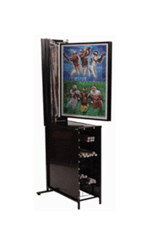 poster display rack with poster bin storage 10 panels