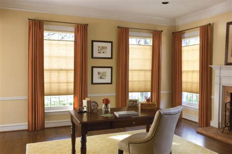 home office window treatments levolor accordia 7 16 quot designer double cell from blinds