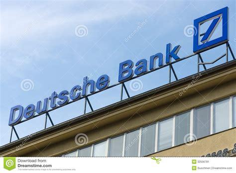 deutsche bank investment services deutsche bank ag editorial photo image 32556781