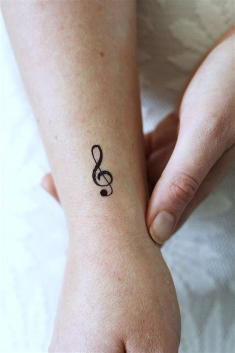 small temporary tattoos small g clef temporary 4 pieces tattoorary