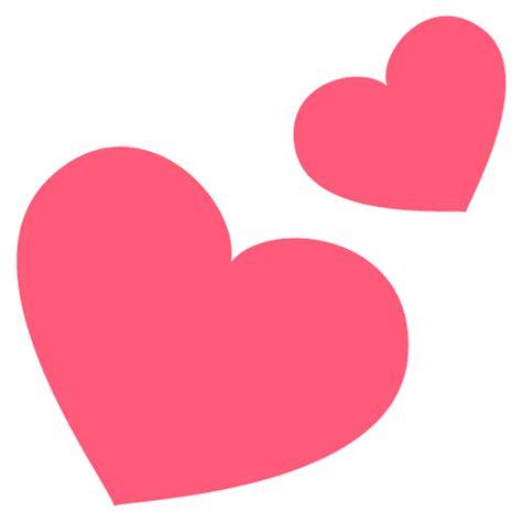 imagenes oscuras de corazones dos corazones emoji