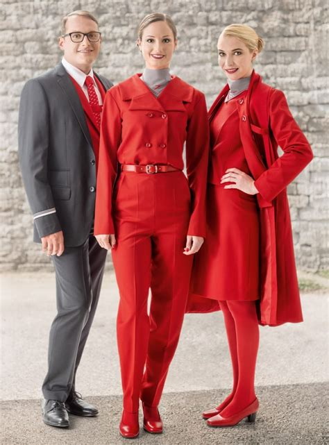 Cabin Ideas by Cabin Crew Style New Uniforms For Austrian Airlines How