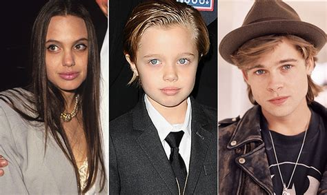 Brad Pitt And Shiloh The Most Beautiful Picture by Shiloh Pitt Is The Spitting Image Of Brad And