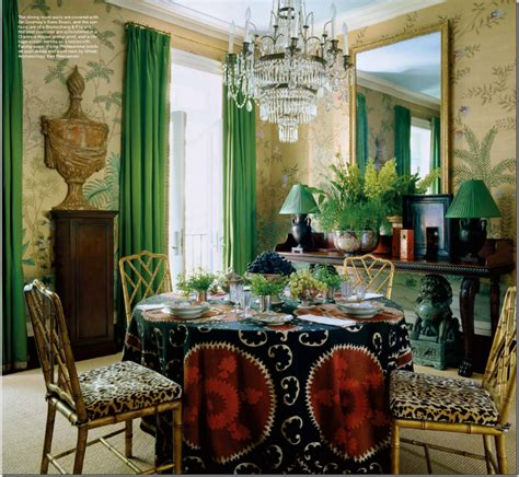 Green Dining Room Morris Sybaritic Spaces Glamorous Rooms By Redd