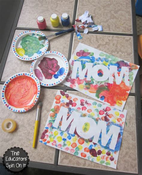 painting for s day easy mothers day craft idea for with paint resist
