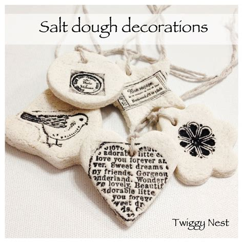 hand sted salt dough decorations and gift tags twiggynest