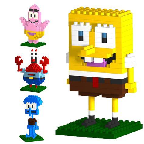 Loz Blocks 9931 3 spongebob series loz block toys building blocks abs plastic bricks 3d assemblage