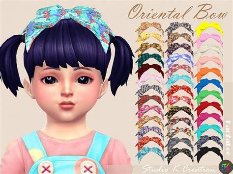 bow set at studio k creation 187 sims 4 updates oriental head bow toddler at studio k creation 187 sims 4