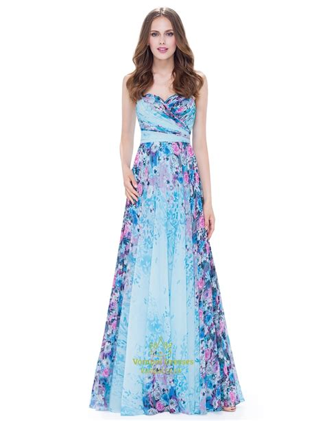 Strapless Maxi Chiffon Dress strapless sleeveless floral ruched chiffon maxi dress with
