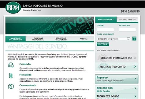 home banking popolare di bpmbanking
