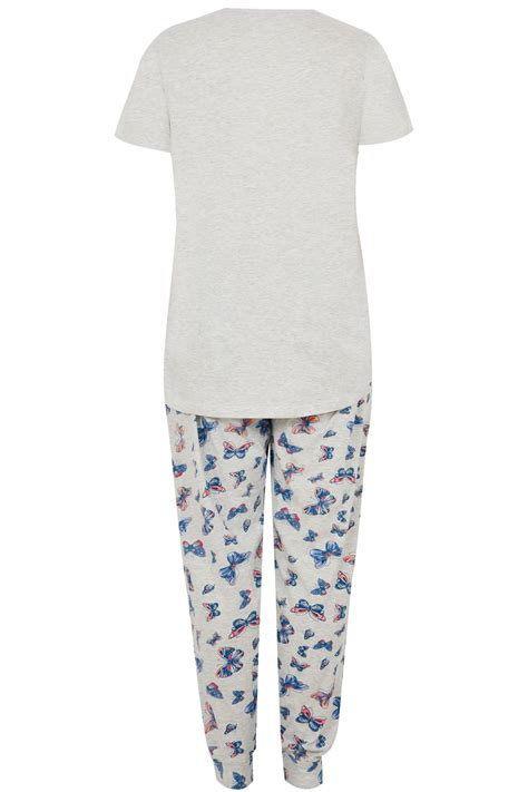 Wasch Und Trockner 1863 by Graues Schmetterlings Pyjama Set In Gro 223 En Gr 246 223 En 44 Bis 64