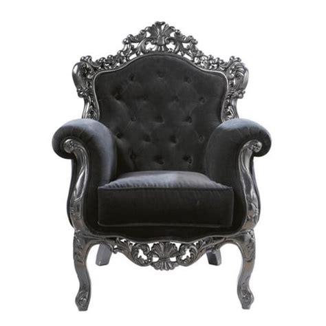 sillon capitone sill 243 n capiton 233 de terciopelo negro barocco maisons du monde
