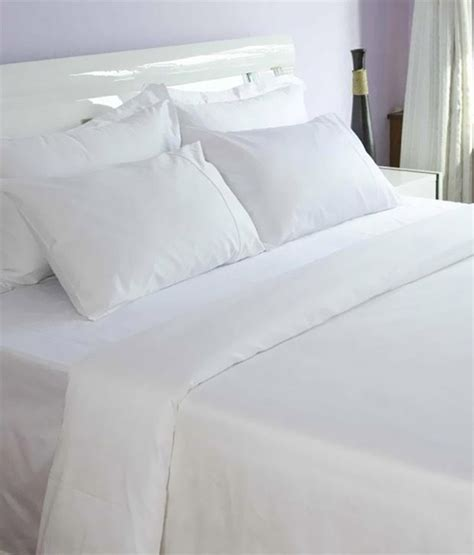 bed and pillow covers bombay dyeing white premium double bed sheet with 2 pillow