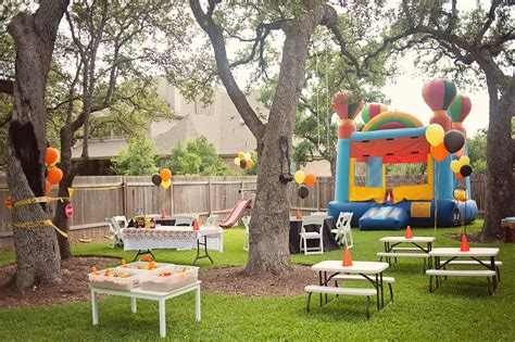 how to decorate backyard for birthday party bringing up three tyler turns two
