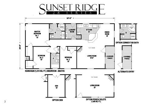 skyline homes floor plans sunset ridge series 5starhomes manufactured homes