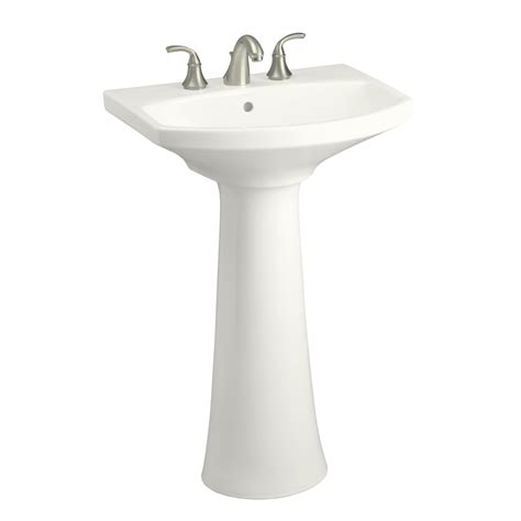 kohler bathroom pedestal sinks shop kohler cimarron 34 5 in h white vitreous china
