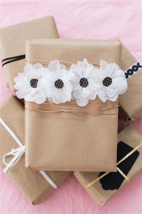 How To Make A Flower Out Of Wrapping Paper - paper flower gift wrap a subtle revelry