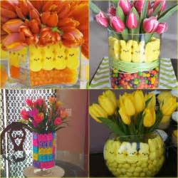 easter centerpiece ideas easter centerpieces with peeps and potted bulbs