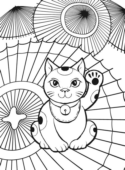 chinese cat coloring page 71 best coloring pages images on pinterest chinese cat