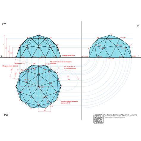 cupola geodetica proiezioni ortogonali di una cupola geodetica