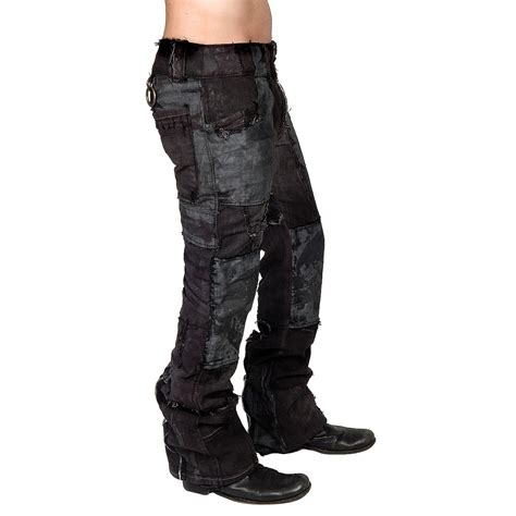 kruiser jeans men s junker designs quot bondage quot custom pants in dark gray