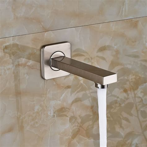 bathroom shower faucet replacement nickel brushed waterfall bathroom tub faucet wall mounted