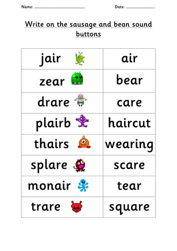 air pattern words year 1 phonics screening check practice by choralsongster