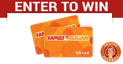 Gift Cards For Families - free family dollar gift card giveaway julie s freebies