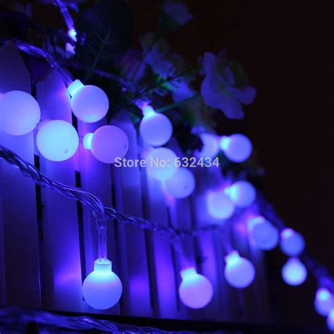 C S Unique 20 Led Ball Solar Powered String Lights Purple Unique String Lights