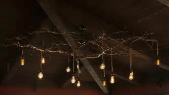 tree branch chandelier lighting custom tree branch chandelier rustic living room